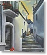 On The Way To Mamma's House In Castelluccio Italy Metal Print