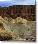 On The Way To Sunday Services Red Cathedral In Death Valley National Park Metal Print