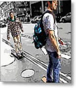 On Their Boards Metal Print