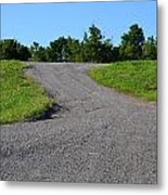 On To The Gravel Road Metal Print