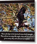 On Wings Of Eagles -in Brown Metal Print