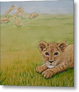 Once There Was A Lion Named Leo Metal Print