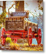 Wagon - Rustic - Once Upon A Time Before Pickups Metal Print