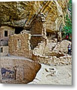 One End Of Spruce Tree House On Chapin Mesa In Mesa Verde National Park-colorado Metal Print