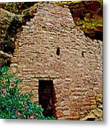 One Entry To Spruce Tree House On Chapin Mesa In Mesa Verde National Park-colorado  Metal Print
