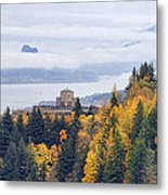 One Foggy Fall Day At Crown Point Metal Print