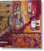 One Glass Too Many - Cabernet Metal Print by Debi Starr