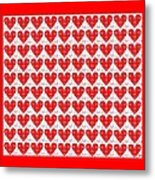 One Hundred Hearts Metal Print