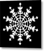 One Ice Crystal inspired by an Ice Crystal seen in an Electron Microscope Metal Print