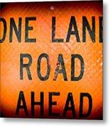 One Lane Road Metal Print