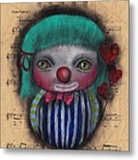 One Love Clown Metal Print