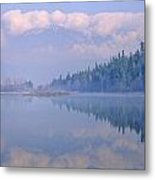 One Mile Lake, Near Pemberton, Bc In Metal Print