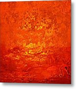 One Night In Old Shanghai By Rjfxx.-original Minimalist Abstract Art Painting Metal Print