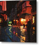 One Of These Nights Metal Print