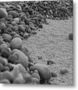 One Pebble Many Pebbles Metal Print