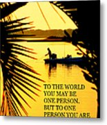 One Person Metal Print