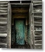 One Room Schoolhouse Door - Damascus - Pennsylvania Metal Print
