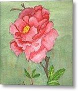 One Rose Metal Print