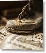 One Single Shoe Metal Print