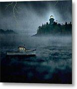 One Stormy Night In Maine Metal Print by Edward Fielding