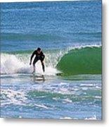 One Surfer Metal Print