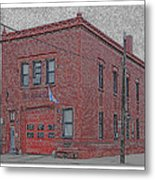 One Truck Fire Station Metal Print