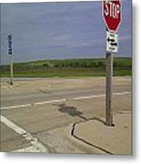One Way Stop Metal Print