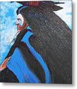 One With Raven Metal Print