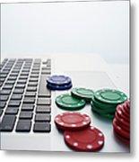 Online Gambling Metal Print