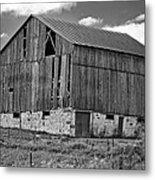 Ontario Barn Monochrome Metal Print