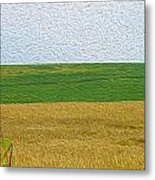 Ontario Farm In Landscape Mode Metal Print