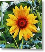Onyx Store Sunflower Metal Print