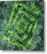Op Art Garden 2 Metal Print
