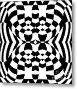 Op Art Geometric Pattern Black White Print No.230. Metal Print