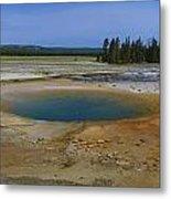 Opal Pool Panorama Yellowstone Metal Print