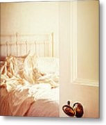 Open Bedroom Door Metal Print