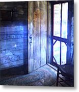 Open Cabin Door With Orbs Metal Print