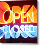 Open Closed Metal Print