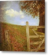 Open Country Gate Metal Print