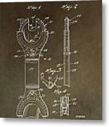 Open End Ratchet Wrench Patent Metal Print