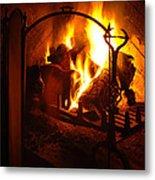 Open Fire Metal Print