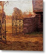 Open Gate By Cottage Metal Print