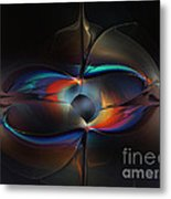 Open Minded-abstract Art Metal Print