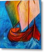 Open Sail Metal Print