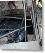 Open Sewer Metal Print