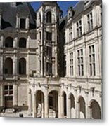 Open Staircase Chateau Chambord - France Metal Print