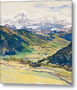 Open Valley. Dolomites Metal Print