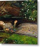 Ophelia  Metal Print by John Everett Millais