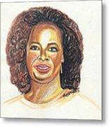 Oprah Winfrey Metal Print