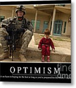 Optimism Inspirational Quote Metal Print by Stocktrek Images